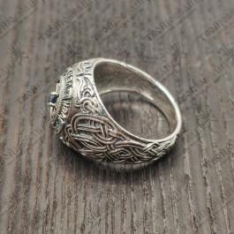 Мужской перстень VER с сапфирами