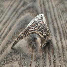 Серебряный перстень Коготь дракона