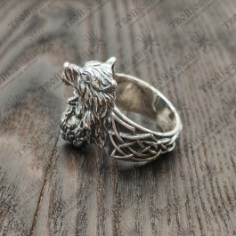перстень Бог Один и Волк