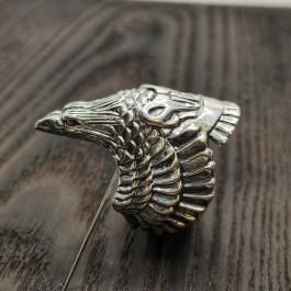 Мужское серебряное кольцо Ворон