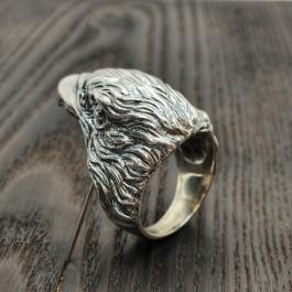 Кольцо Орел из серебра