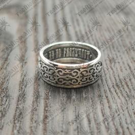 """Венчальное кольцо """"Что Бог сочетал, того человек да не разлучает."""" (Мк. 10:9)"""