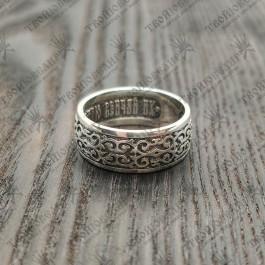 """Венчальное кольцо """"Господи Боже наш , славою и честию венчай их."""" (Пс. 8: 5–6)"""
