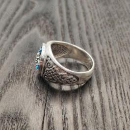 Серебряная мужская печатка