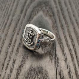 Перстень с якорем и Гербом Украины