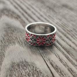 Серебряное кольцо Звезда Алатырь
