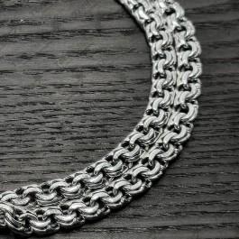 Серебряная Мужская цепь Бисмарк