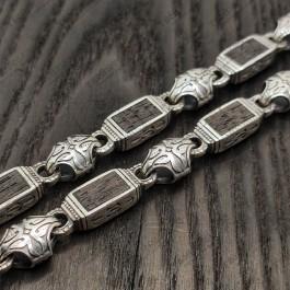 Большая мужская серебряная цепочка