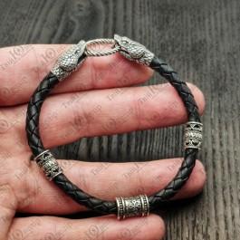 Браслет оберег - чертог змея, с головами змея