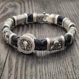 Серебряный православный браслет