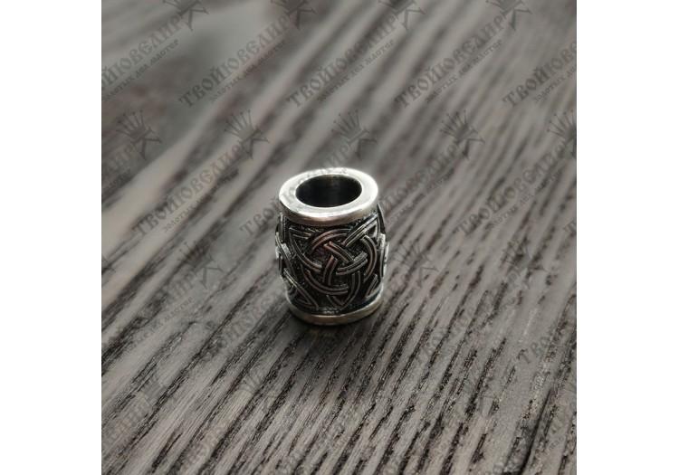 Серебряная бусина Шарм с кельтским узлом