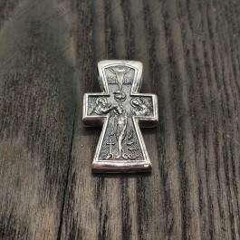 """Серебряный крест """"Распятие. Богоявление"""""""